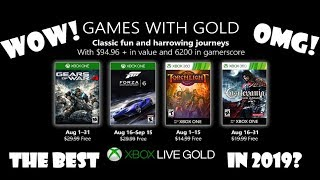 Games With Gold Titles For August 2019 Reveled......WOW, OMG!!!