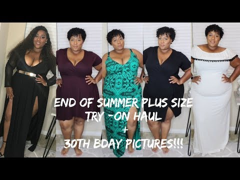 End of Summer Plus Size Try-on Haul| 30th Bday Pictures