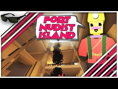 Unturned Gameplay #9 - Gold Account Giveaway + Building Fort Nudist Island On The Multiplayer Server video