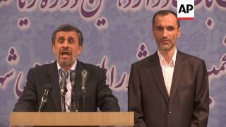 Ahmadinejad speaks about Iranian election run