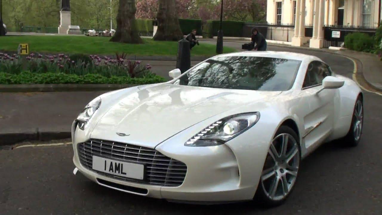 White Aston Martin One 77 Crusing In London Youtube
