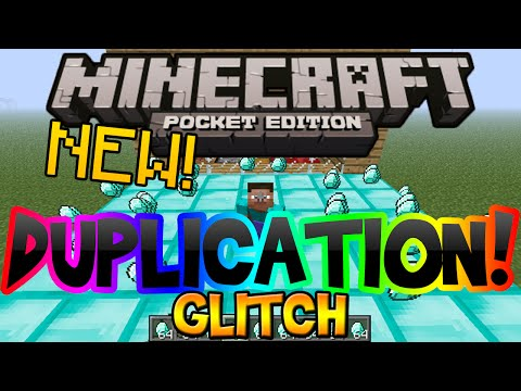 Minecraft Pocket Edition Duplication Glitch (Unlimited Diamonds. Gold. & Iron Tutorial)