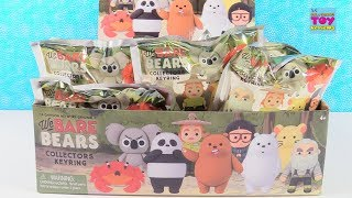 We Bare Bears Collector Keyrings CN Full Box Blind Bag Opening Review | PSToyReviews
