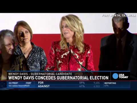 Wendy Davis defeated in Texas governor's race