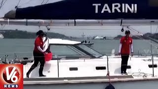 All-women Indian Navy Crew Returns to Goa After Historic Circumnavigation