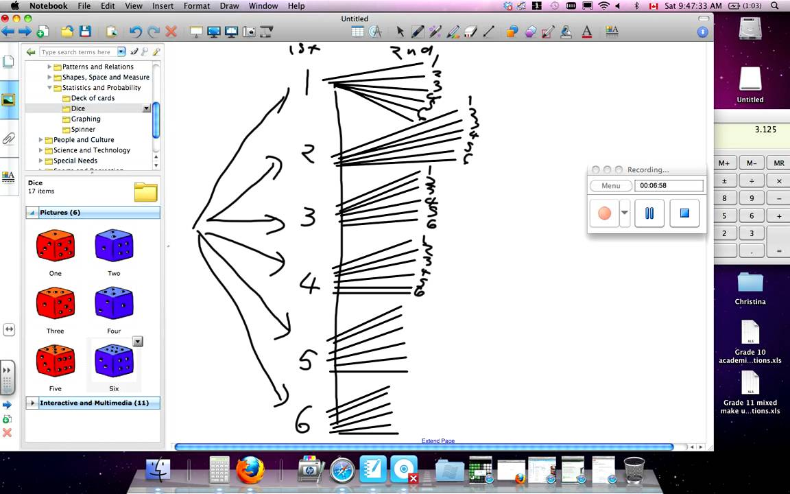 Tree Diagram Dice April30