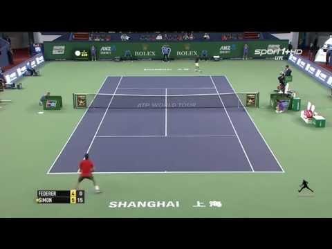 Roger FEDERER vs Gilles Simon 2-0- lần đầu tiên vô địch Shanghai 2014 Final