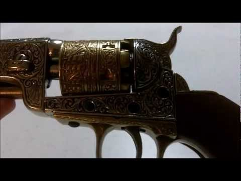 Denix 1851 Colt Navy Gold Non-firing replica revolver