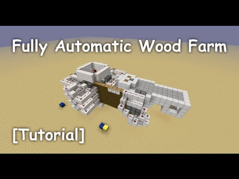 Fully Automatic AFK Wood Farm (for Spruce. Jungle. Birch and Oak) - [Tutorial]