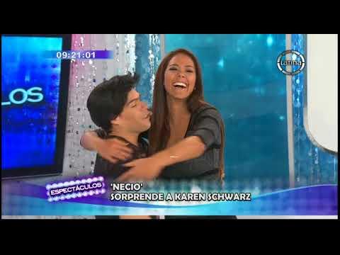 Necio Oliva visitó a Karen Schwarz en Espectáculos