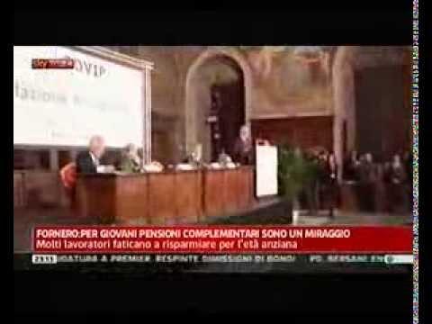 Servizio sulla Relazione COVIP per l'anno 2011. Sky TG 24, 23 maggio 2012