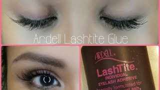 IN DEPTH Tutorial: Ardell Lashtite Glue | Apply Under My Natural Lashes!
