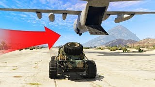 TRY TO JUMP IN THE PLANE! (GTA 5 Gun Running DLC)