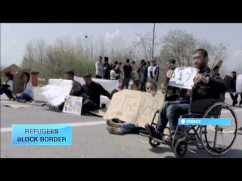 Europe Migrant Crisis: Refugees block Greece-Macedonia border crossing to protest deportation
