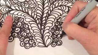 ASMR Vines flowers Curly Qs Speed Drawing