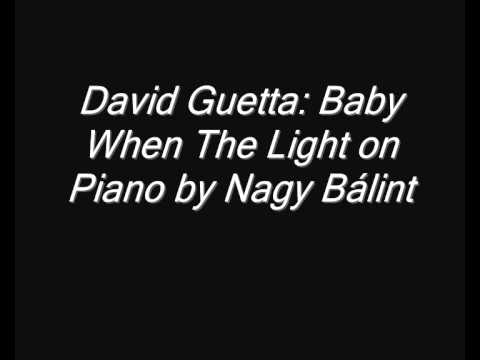 David Guetta: Baby When The Light on Piano