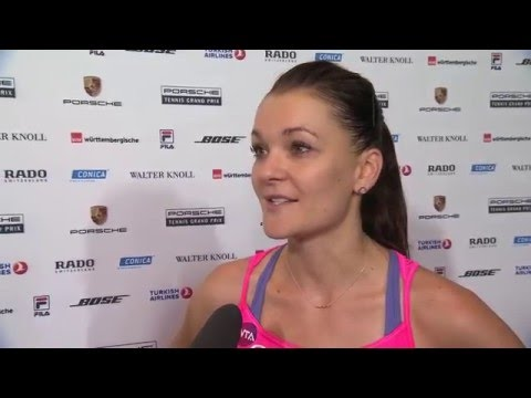 Interview Agnieszka Radwanska (POL) quarter finals - Porsche Tennis Grand Prix 2016