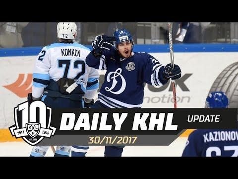 Daily KHL Update - November 30th, 2017 (English)