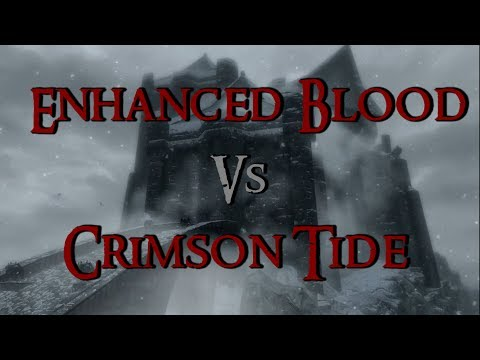 Skyrim Mod Comparison - Enhanced Blood Textures Vs Crimson Tide  (+ Bloody Facia