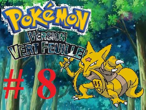 Let's play pokemon version vert feuille  épisode 8 Arrivée a Carmin sur Mer