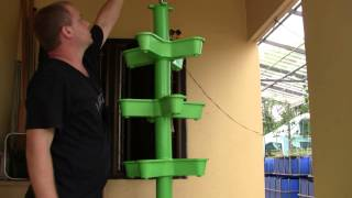 I-Stack Vertical Growing Tower from Aquaponics Thailand