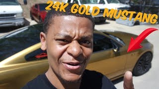 24k GOLD Ford Mustang | How to plasti dip | Dipyourcar