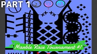 Marble Race Tournament #1: 12 Teams - Part 1/3 (Groups) | Bouncy Marble
