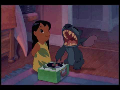 Lilo & Stitch listen to hip hop
