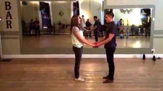Beginner Swing Dance Jitterbug   Basic Footwork   Inside Turn   Belt Turn