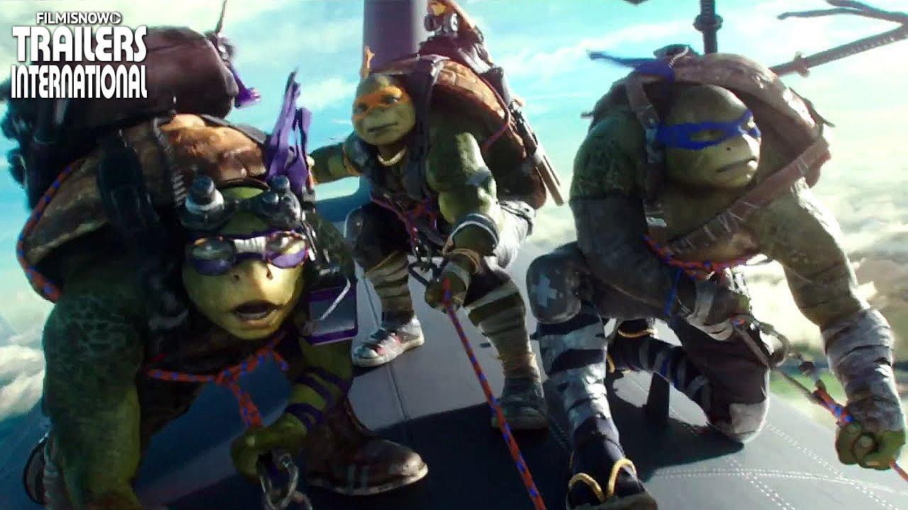 Leonardo, Raphael, Donatello e Michelangelo - 4 razões para muita diversão. Novo trailer!