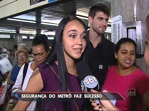 Segurança do metrô de São Paulo vira celebridade