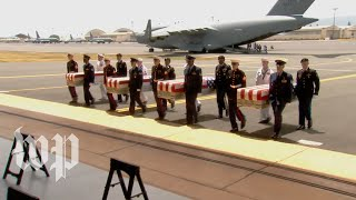 Pence at ceremony for return of possible Korean War remains
