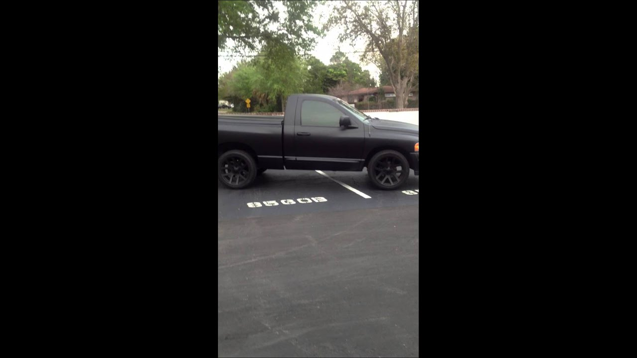 Dodge Ram 1500 Matte Black Hot Rod Black Hemi Murdered Out