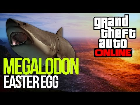GTA 5: MEGALODON EASTER EGG - GIANT SHARK IN GAME! GTA V EASTER EGGS