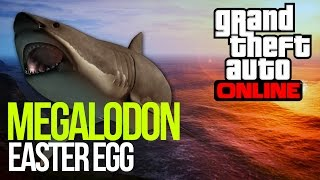 GTA 5: MEGALODON EASTER EGG - GIANT SHARK! GTA V EASTER EGG PARODY!