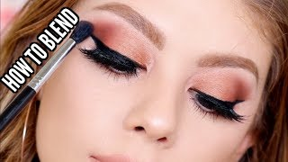 HOW TO BLEND YOUR EYESHADOW LIKE A PRO | TIPS & TRICKS FOR BEGINNERS