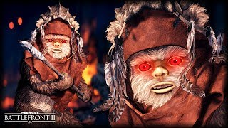 Star Wars Battlefront 2 EVIL EWOKS - Funny Gameplay Moments (SCARIEST GAME EVER!)