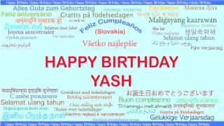 Yash   Languages Idiomas - Happy Birthday