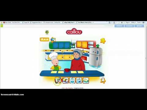 Playing Caillou-Game-PBS kids (I am lame) Music Videos