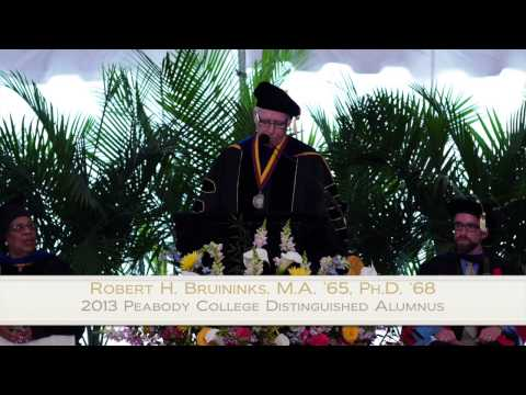 Vanderbilt University Peabody College Commencement 2013 Address