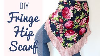 DIY Fringe Hip Scarf - Easy belly dance / gypsy / ATS costuming!