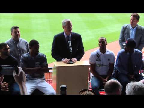 JAMES DeGALE v ANDRE DIRRELL OFFICIAL PRESS CONFERENCE / FENWAY PARK, BOSTON