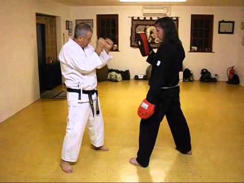Tom Hill's Karate Dojo; Training tips; punching on focus mitts. Image 1