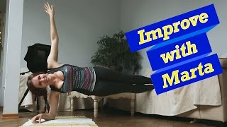 Plank  4 variations of a single side - Improve With Mart