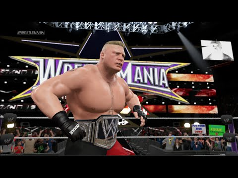 WWE 2k15 Next Gen Official Wrestlemania Gameplay - John Cena vs Brock Lesnar!