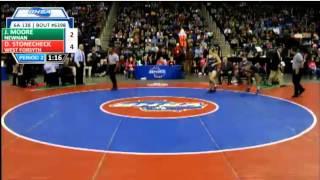 Newnan senior Jason Moore vs. West Forsyth's Denver Stonecheck: 138-pound finals