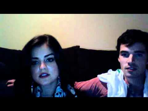 Lucy Hale Ian Harding Ustream 2012 2 2 Part 4