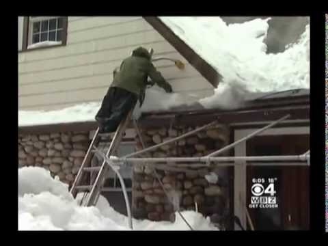 RTD Ice Dam Removal on Boston CBS WBZ 6pm Talking About Ice Dams With Mike Hilborn