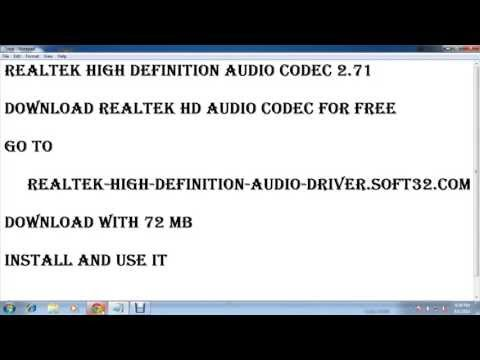 Realtek High Definition Audio Codec 2.71
