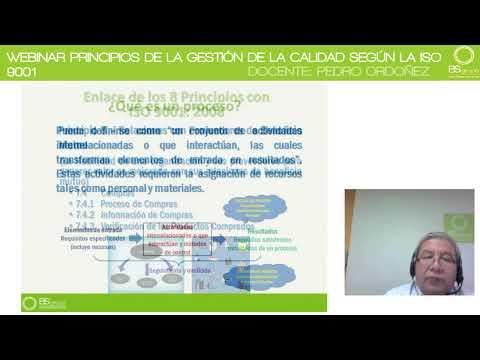 WEBINAR PRINCIPIOS DE LA GESTIÓN DE LA CALIDAD SEGÚN ISO 9001